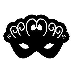 女性無料アイコンのカーニバルの目マスク