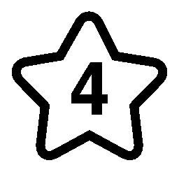 星に番号 4 無料アイコン
