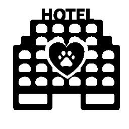 ペットホテル建物無料アイコン
