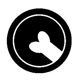 骨部分無料アイコンとペットホテル円記号