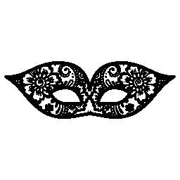 花無料アイコンとカーニバルの目マスク