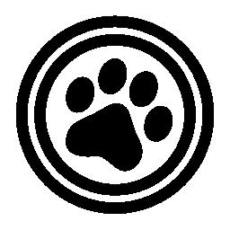ペット円形記号無料アイコン