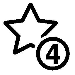 4 星印無料アイコン