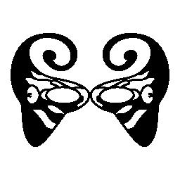 女性無料アイコンの面白いとエレガントなカーニバル マスク
