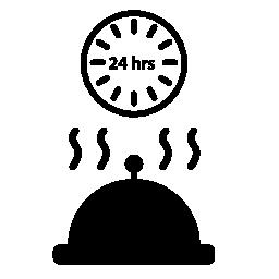 24 時間ルーム サービス無料アイコン