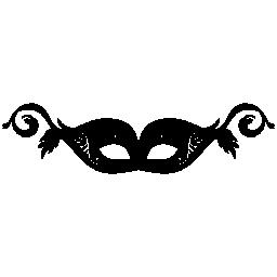 フェミニンなデザイン無料のアイコンの目のためのカーニバルのマスク