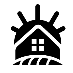 農村部のホテル建物無料アイコン