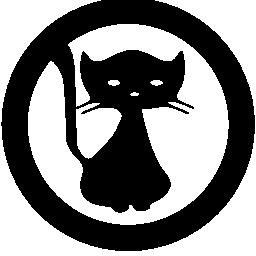 サークル無料のアイコンの中の猫