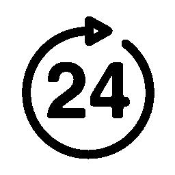 24 時間無料アイコン