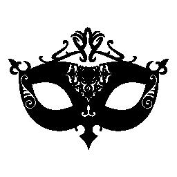 飾られた女性的なカーニバル マスク無料アイコン