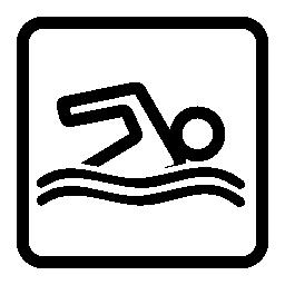 スイミング プール信号無料アイコン