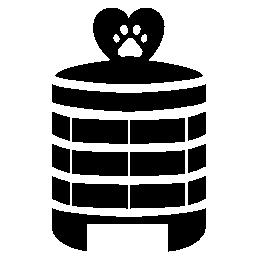 ペット無料のホテルの建物のアイコン