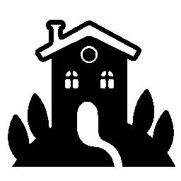 庭の無料アイコンと農村ホテル ハウス