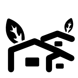 農村部のホテル住宅木無料のアイコン