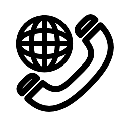 国際電話シンボル概要無料アイコン