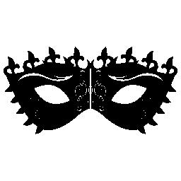 カーニバルに飾られたマスク デザイン無料のアイコン