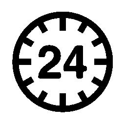 24 時間循環記号無料アイコン