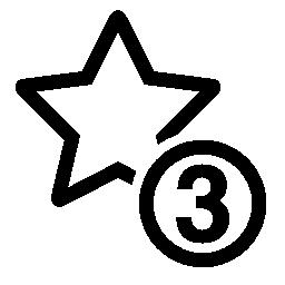 3 つ星シンボル無料アイコン