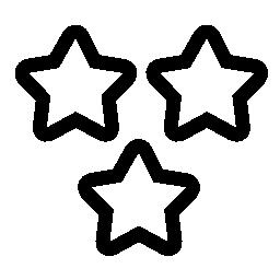 3 つ星概要無料アイコン
