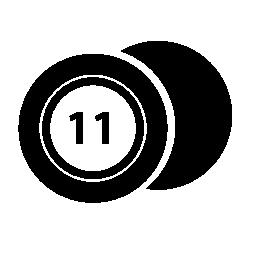 番号 11 無料アイコンとカジノ ・ チップ