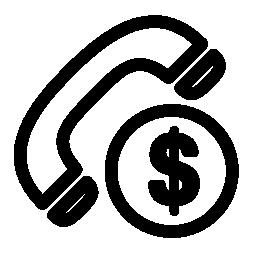 通話コスト シンボル無料アイコン