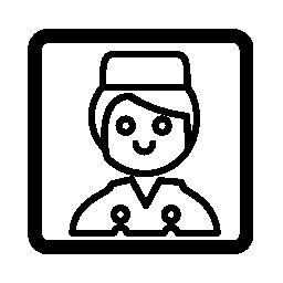 鐘男の子の肖像画無料アイコン