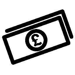 ポンドの法案無料アイコン