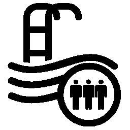 公共スイミング プール無料アイコン