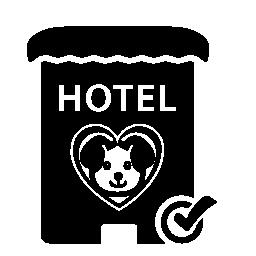 ペット ホテル記号無料アイコン