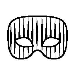 薄い縦縞無料アイコンとカーニバル マスク