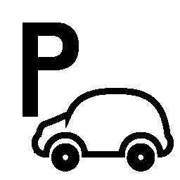 信号の車の駐車場の無料アイコン