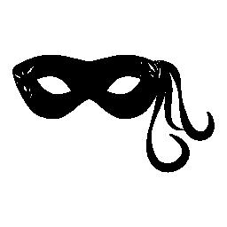 掛かる装飾線無料のアイコンを 1 つの側面に付いているカーニバル マスク