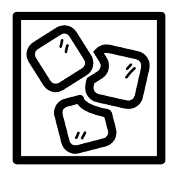 正方形のキューブ アイス無料アイコン