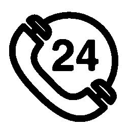 電話 24 時間記号無料アイコン