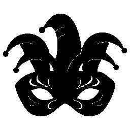 目無料アイコンの道化カーニバル マスク