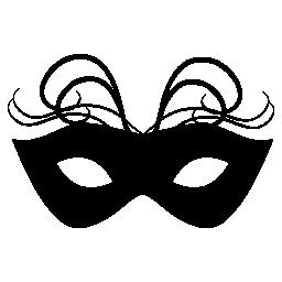 薄い羽飾り無料アイコンとカーニバル マスク