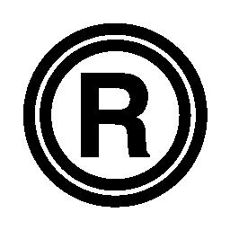 無料のアイコンを登録商標記号