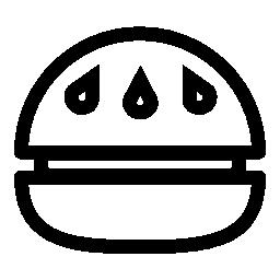 バーガー側ビュー概要無料アイコン
