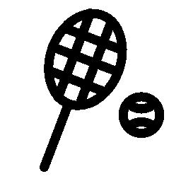 テニス ラケットとボールの無料アイコン