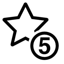 5 つ星記号無料アイコン