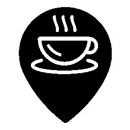 コーヒー ショップ マーカー無料アイコン
