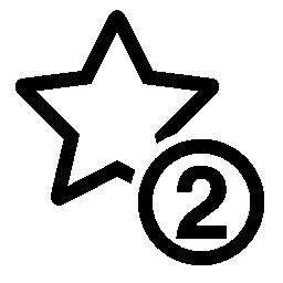 2 つ星シンボル無料アイコン