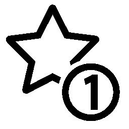 1 つの星のシンボル無料アイコン