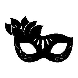 女性無料アイコンの花カーニバル マスク