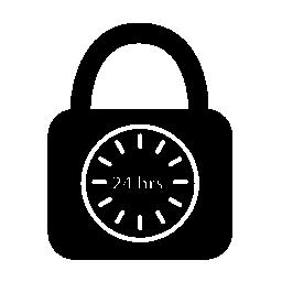 南京錠シンボル セキュリティの 24 時間日の無料のアイコン