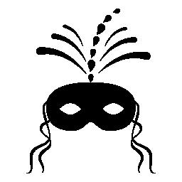 お祝いカーニバル マスク無料アイコン