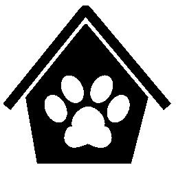 家の無料アイコンの犬 pawprint