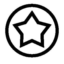 サークル線無料アイコンに星の概要