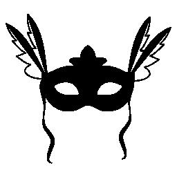 両方の側面の無料アイコンで羽を持つカーニバル マスク