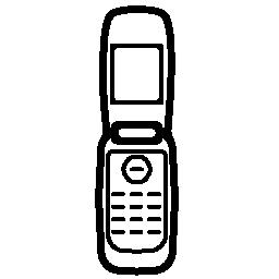 携帯電話の機種のカバーが開いています概要無料アイコン